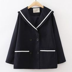 ninna nanna - Tipped Double Breasted Jacket