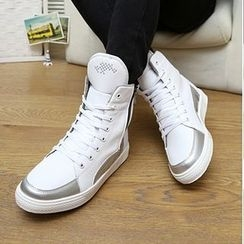 Araeo - Color Panel High Top Sneakers