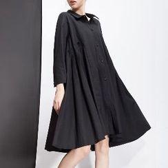 Halona - A-Line Collared Dress