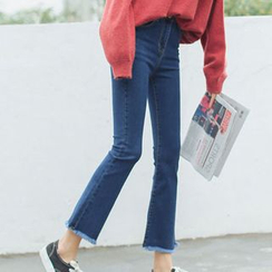 Woodie - Fray Boot-cut Jeans