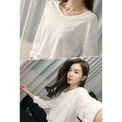 ATTYSTORY - Round-Neck Drop-Shoulder T-Shirt