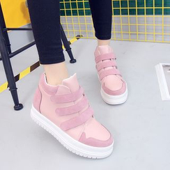 Tina Nini - Platform Hidden Wedge Velcro Sneakers