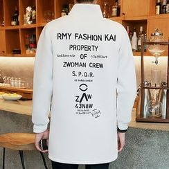 Bay Go Mall - Printed Stand Collar Jacket
