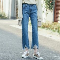 Dute - Wide Leg Cropped Jeans