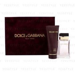 Dolce & Gabbana - Pour Femme Coffret: Eau De Parfum Spray 50ml/1.6oz + Body Lotion 100ml/3.3oz