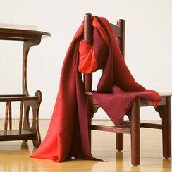 羚羊早安 - 流蘇撞色圍巾