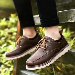 Ireoul - Faux Leather Boat Shoes