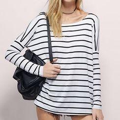 Rebecca - Striped Drop Shoulder T-Shirt