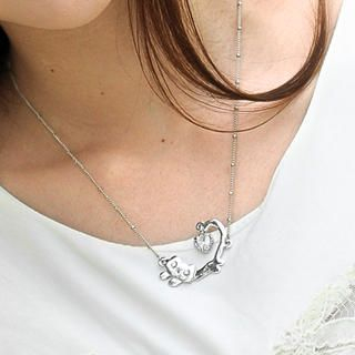 59 Seconds - Rhinestone Cat Necklace
