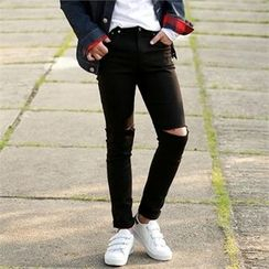 Smallman - Cut-Off Detailed Skinny Jeans