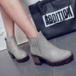 Shoes Galore - Chunky Heel Ankle Boots