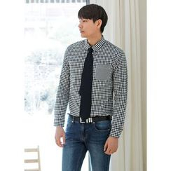 GERIO - Pocket-Front Gingham Shirt