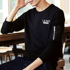 Really Point - Letter Long-Sleeve T-shirt