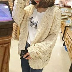FR - Pointelle Knit Chunky Cardigan