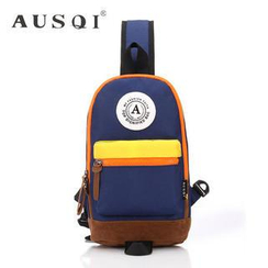 Ausqi - Color-Block Canvas Cross Bag