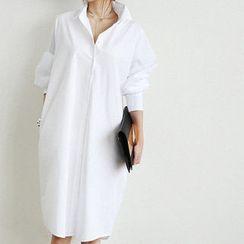 NANING9 - Cotton Oversized Shirtdress