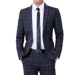Bay Go Mall - Plaid Blazer