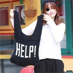 Picapica - Lettering Knit Shopper Bag