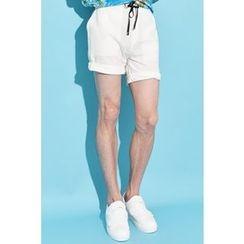Ohkkage - Drawstring-Waist Shorts