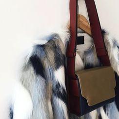 DISCOSALON - Pattern Faux-Fur Jacket