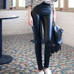 Olgo - Faux-Leather Leggings