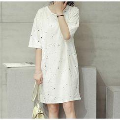 Clover Dream - Short-Sleeve Print T-Shirt Dress