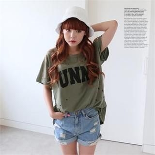 DL jini - Short-Sleeved 'FUNNY' Print T-Shirt