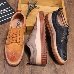 Armsal - Lace-Up Perforated Oxfords
