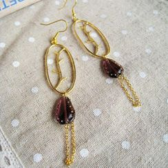 MyLittleThing - Gold Glamour Purple Stone Earrings
