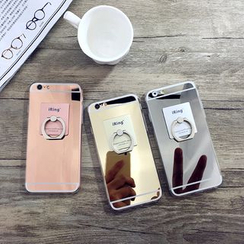 Cartoon Face - Mirror Case with Mobile Ring - Apple iPhone 6 / 6 Plus