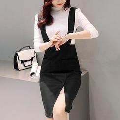 NINETTE - Set: Knit Top + Jumper Skirt