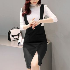 NINETTE - 套装:针织上衣 + 背带裙