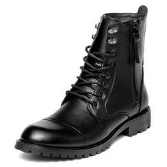 yeswalker - Genuine Leather Side-Zip Boots
