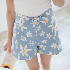 Tokyo Fashion - Tie-Front Floral Shorts