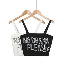 Momewear - Lettering Spaghetti Strap Cropped Top