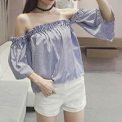 Cloud Nine - 3/4-Sleeve Off Shoulder Top