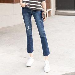Denimot - 做旧靴形牛仔裤