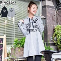 RingBear - Long Sleeve Printed Hooded Top