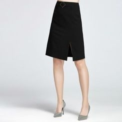 Sentubila - Slit A-line Skirt