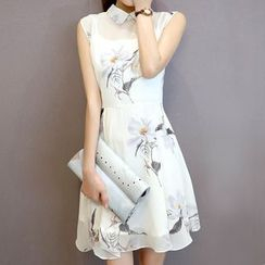 Athena - Sleeveless Floral Dress