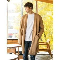 STYLEMAN - Open-Front Long Cardigan