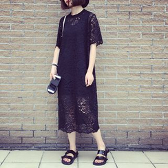 A7 SEVEN - Short-Sleeve Lace Dress