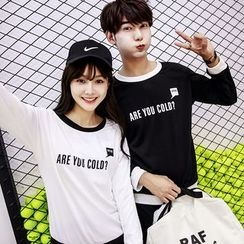 Azure - Couple Matching Lettering Pullover