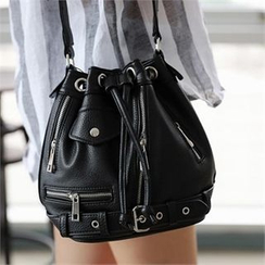 CHICFOX - Belted Bucket Bag