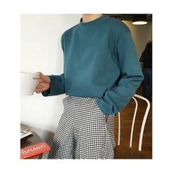 FROMBEGINNING - Mock-Neck Long-Sleeve T-Shirt