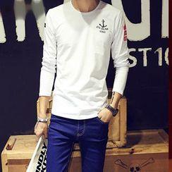 maxhomme - Anchor Print Long-Sleeve T-Shirt