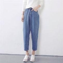 Windflower - Cropped Tapered Jeans