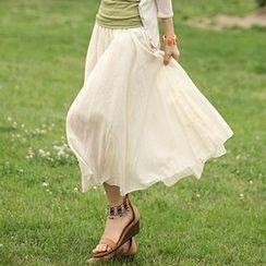 Mythmax - A-Line Long Skirt
