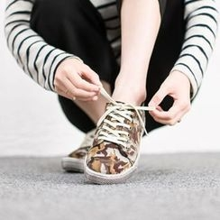 VIVIER - Camouflage Print Sneakers