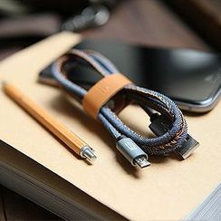 Cute Essentials - iPhone Denim Data Cable